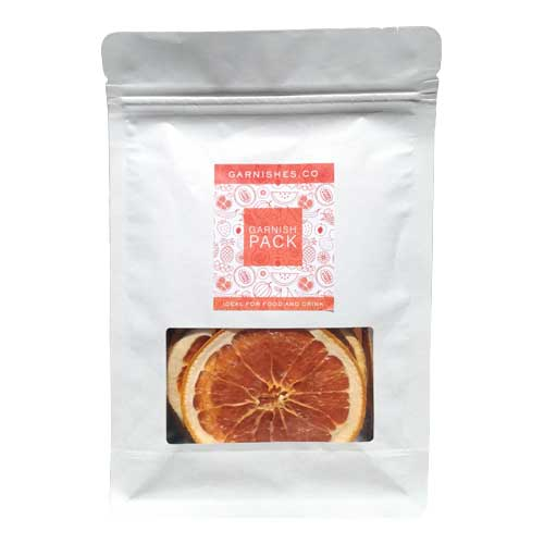 dehydrated pink grapefruit garnishes 25g